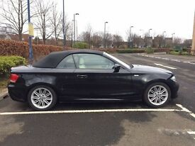 BMW 118i M Sport black with cream leather - 1 lady owner (non smoker/no pets) from new