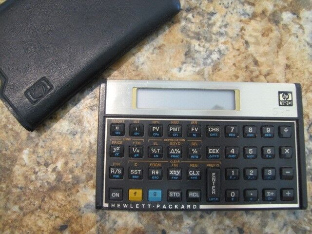 Hewlet Packard Financial Calculator 12C with Case Fully Functional