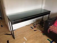 Ikea Besta Burrs high gloss table/console