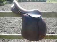 "Kings event saddle 17 1/2"" havana brown narrow"