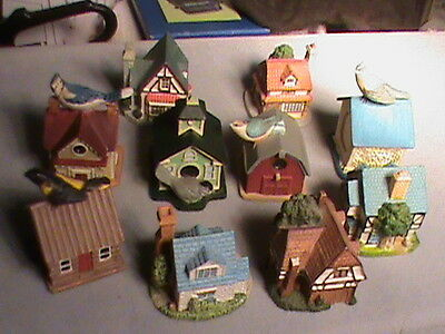 ESTATE LENOX THIMBLE COLLECTION  10 House and Bird THIMBLES