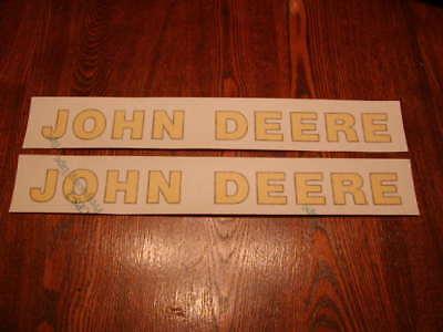 Two Nice John Deere Logo Decals 1-38 Inch X 14 Inch