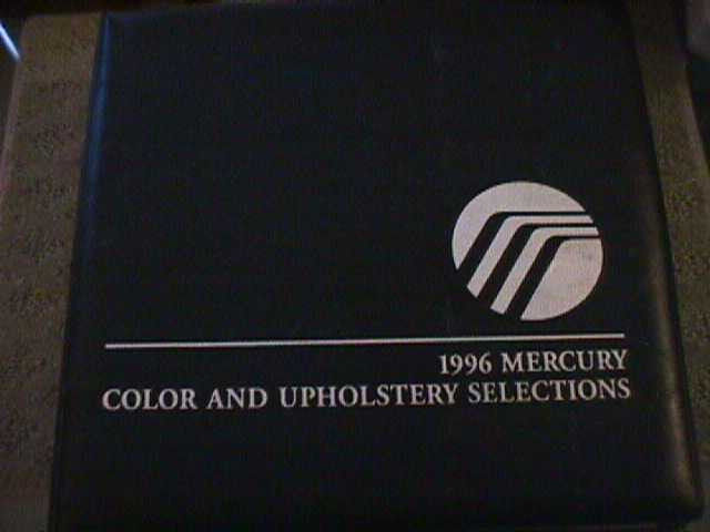 SCARCE 1996 MERCURY DEALER COLOR AND UPHOLSTERY SHOWROOM ALBUM