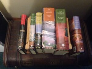 ^ Jean AUel Hard Cover Books/mini Oak Case