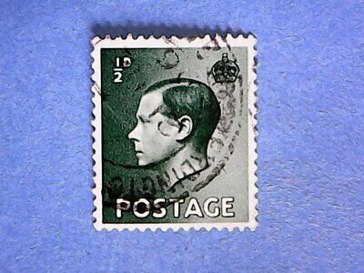 GB. KEVIII 1936 ½d Green. SG457. Wmk W125. P15 x 14. Used.