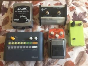 Drum machine, attenuator and pedals