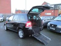 Vauxhall Zafira wheelchair accessible, disabled access car, mobility scooter