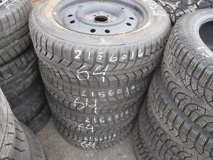 215/60 R16 KIA SOUL WINTER TIRES AND STEEL RIMS PACKAGE (SET OF 4) - USED UNIROYAL TIGER PAW TIRES APPROX. 85% TREAD