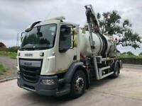 2015 65 DAF LF 220 EURO 6 WHALE medium volume jet/vacuum tanker