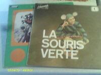 2 DISQUES VINYLES DE LA SOURIS VERTE DES ANNÉES 70