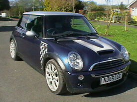 55 REG MINI 1.6 COOPER S CHECKMATE SPECIAL EDITION IN BLUE WITH SILVER ROOF