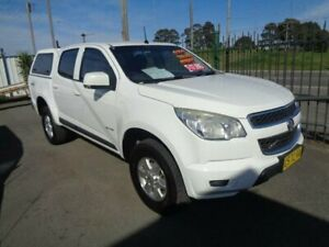 2012 Holden Colorado RG LX (4x4) White 6 Speed Automatic Crew Cab Pickup Sandgate Newcastle Area Preview
