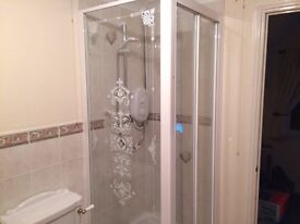 Complete Shower Enclosure + Mira Electric Shower - VERY clean condition from good home!