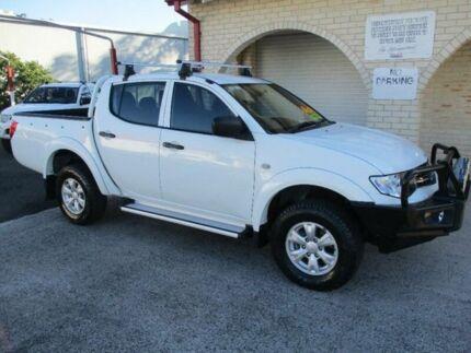2013 Mitsubishi Triton MN MY14 Update GLX (4x4) White 4 Speed Automatic 4x4 Double Cab Utility