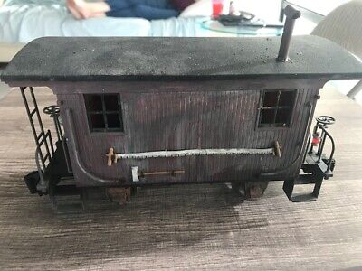 G Scale Bachmann Spectrum Backwoods caboose weathered and customized.
