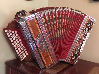 Slovenian 4 Row Melodija Diatonic Button Box Accordion Harmonika Bb,Eb,Ab,Db