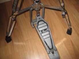 Vintage Chromed Pearl HI Hat Tripod Stand With Clutch Pedal.