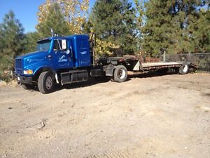 single axel tractor and trailer