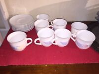 Cups and Saucers Made in France - Good Condition - Moving Abroad - Further Reduced Price