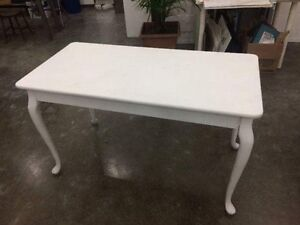 Table blanche bois vintage / baroque white table