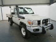 2014 Toyota Landcruiser VDJ79R MY13 WORKMATE French Vanilla Manual CAB CHASSIS SINGLE CAB Albion Brimbank Area Preview