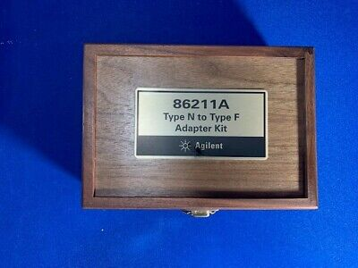 Agilent 86211A Adapter Kit, Type-N and Type-F, 75 ohm, DC to 2 GHz