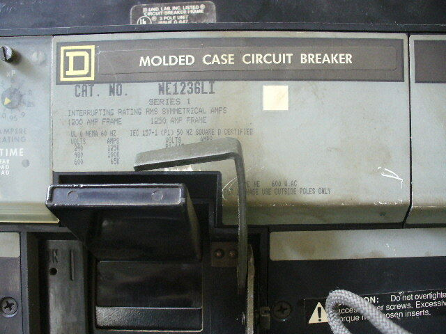 Square D I Line Circuit Breaker NE1236LI, With 1200 Amp Sensor