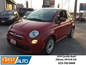 2012 FIAT 500 Pop - Red On Red! - AMAZING ON GAS! LOW PRICE