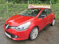 Renault Clio 1.5 Dynamique S MediaNav DCi 90 Turbo Diesel Energy 5DR (flame red) 2014