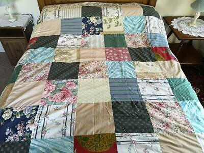 Beautiful Patchwork Quilt Cover. Handmade Pretty Patches Both Sides. Very Pretty
