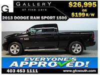 2013 DODGE RAM SPORT CREW **EVERYONE APPROVED** $0 DOWN $199/BW!