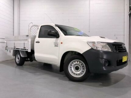 2013 Toyota Hilux KUN16R MY12 Workmate White 5 Speed Manual Cab Chassis Windsor Hawkesbury Area Preview