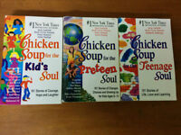 Assorted children's and Chicken soup books for sale