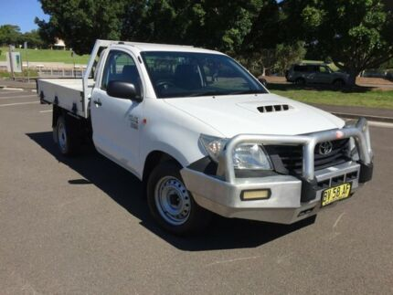 2013 Toyota Hilux KUN16R MY14 Workmate White 5 Speed Manual Cab Chassis Homebush West Strathfield Area Preview