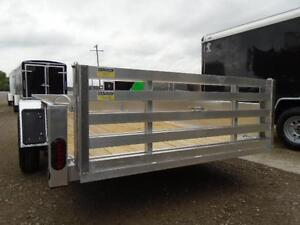 6X12 ALUMINUM UTILITY - SOLID SIDES, BI-FOLD GATE - SPECIAL! London Ontario image 6