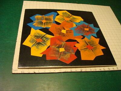 Original BEATRIZ GRAYSON Art: SPRING FLOWERS signed, 1989, behind plastic