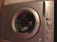 Silver washing machine 12 months old - low usage