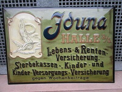IDUNA HALLE a./S. grüner Hintergrund Lebens-Versicherung REPLIKAT