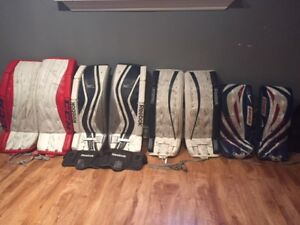 Lot of high end hockey equipment especially goalie