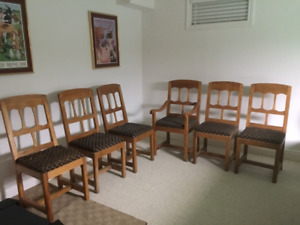 Set of  ten 10 Matching Chairs - Solid Wood