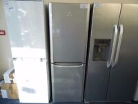 EX-DISPLAY SILVER FROST FREE INDESIT FRIDGE FREEZER REF: 13221