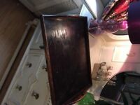 REDUCED - Very Old and fairly large Vintage/Retro Wooden Tray with handles - Shabby Chic Project