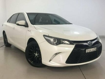 2015 Toyota Camry AVV50R Atara SL White 1 Speed Constant Variable Sedan Hybrid Chatswood Willoughby Area Preview
