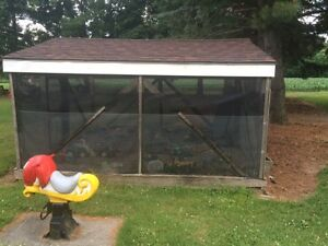 12' x 12' screened in structure