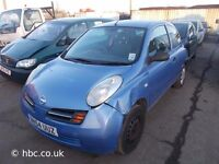 NISSAN MICRA 2003 BREAKING FOR SPARES TEL 07814971951 HAVE FEW IN STOCK PLEASE CALL 07814971951