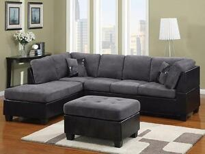 $799 - GREY SECTIONAL 2 PCS