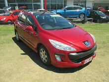 2008 Peugeot 308 T7 XSE HDI Red 6 Speed Manual Hatchback Kippa-ring Redcliffe Area Preview