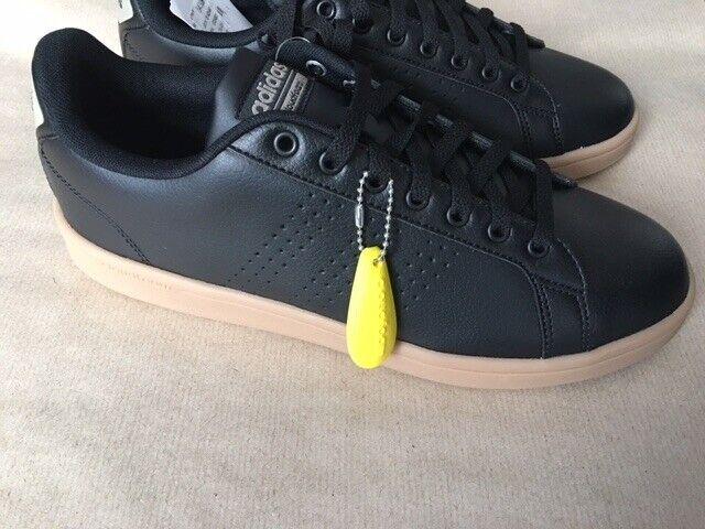save off 82100 ce636 adidas Mens Cloudfoam Advantage Cl Tennis Shoes 8.5 UK black leather