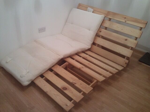 Ikea Grankulla Wooden Futon Sofabed Single