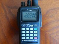 Icom A6E Pro Pack VHF radio + Pilot PTT switch